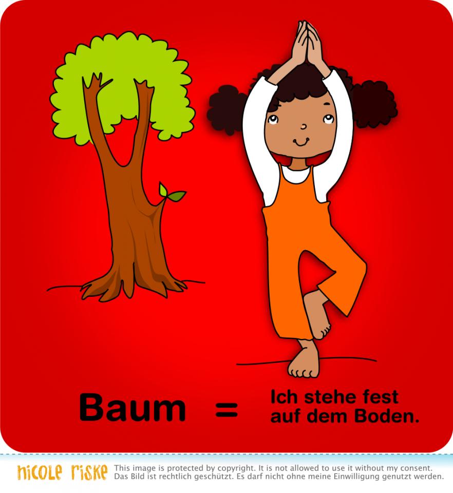 beliebtes Kinderyoga: der Baum