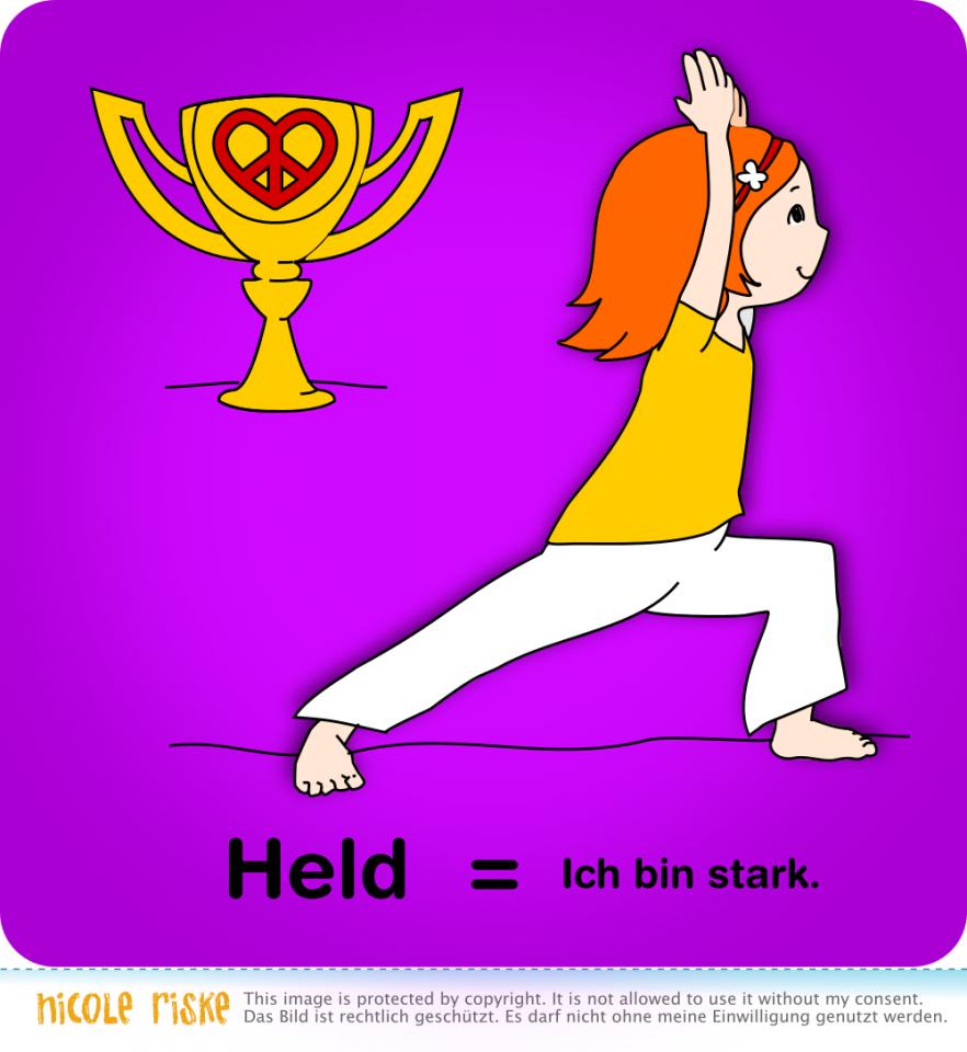 Yoga-Übung: Held